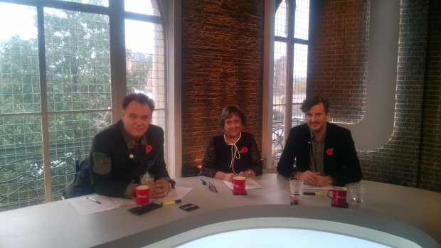 Mik with the Wright Stuff panel
