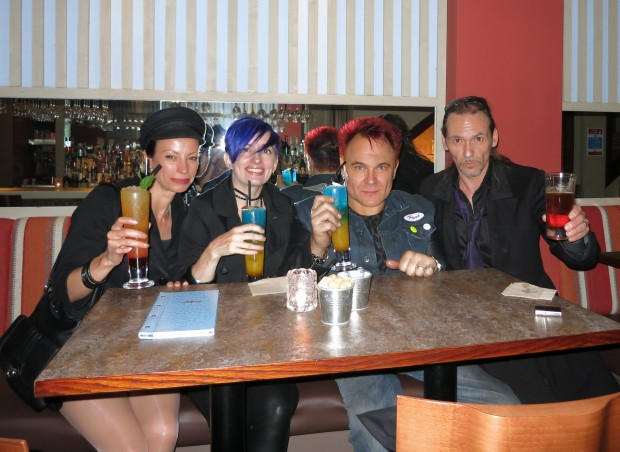 Mik and mates drinking!