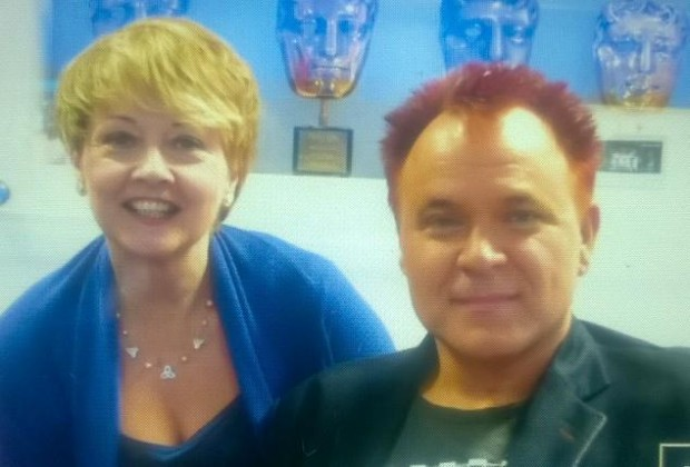 Mik with Anne Diamond