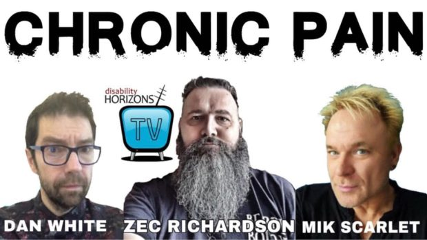 Promo banner for DHTV, with Dan White, Zec Richardson and Mik Scarlet