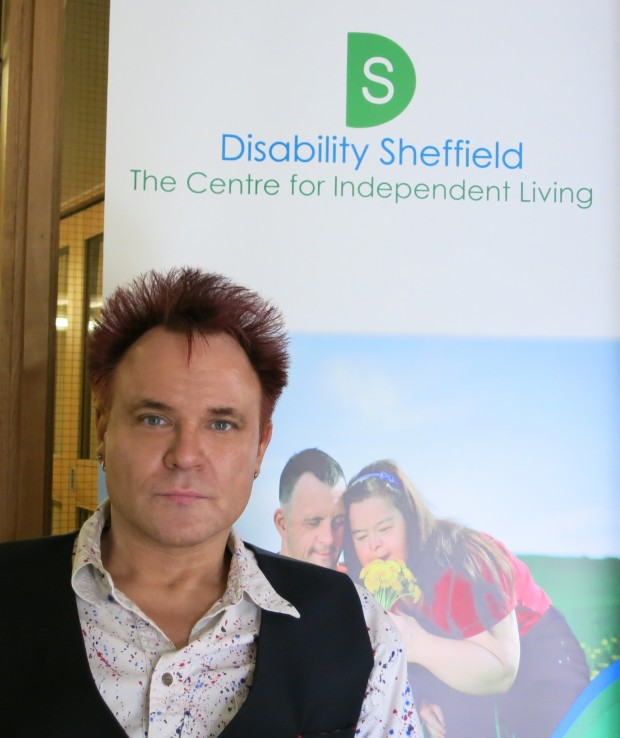 At the launch of Disability Sheffield