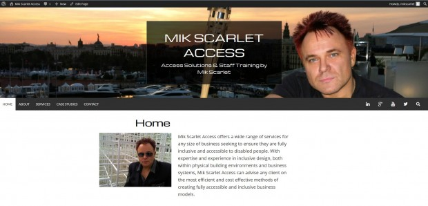 Screenshot of Mik Scarlet Acess Website