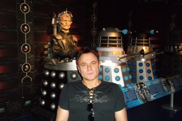 Mik with his Family at the Dr Who Experience