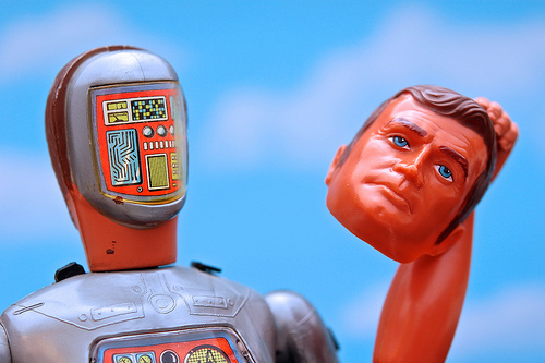 Photo of the 70's toy Six Million Dollar Man